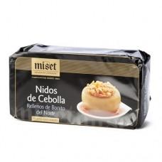 Nidos de Cebollas rellenas de atún. Conservas MISET Selección Artesana. Lata 1/2 Kg.